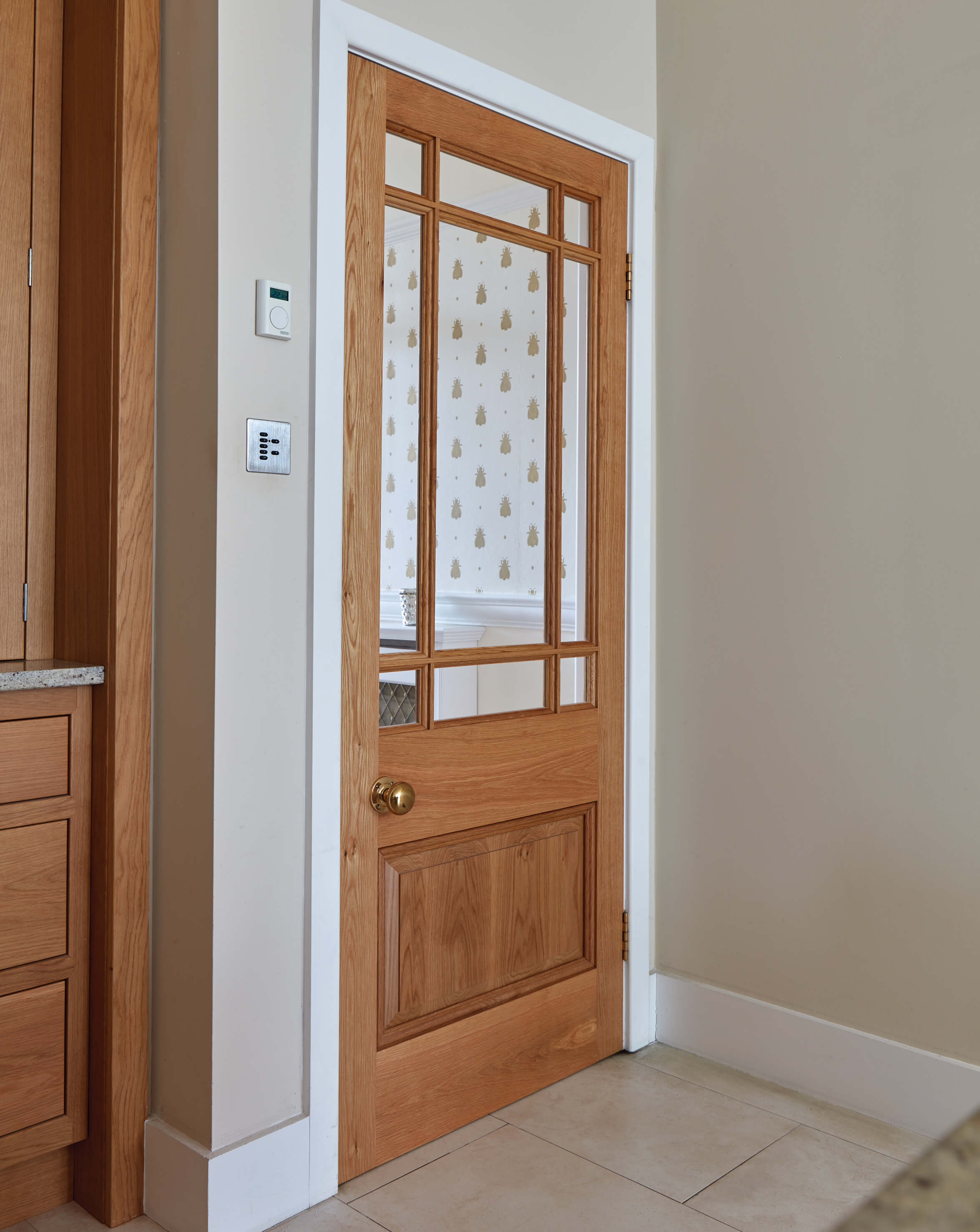 buy popular bbf59 02eb1 Solid Oak Glazed Internal Door - London Door Company