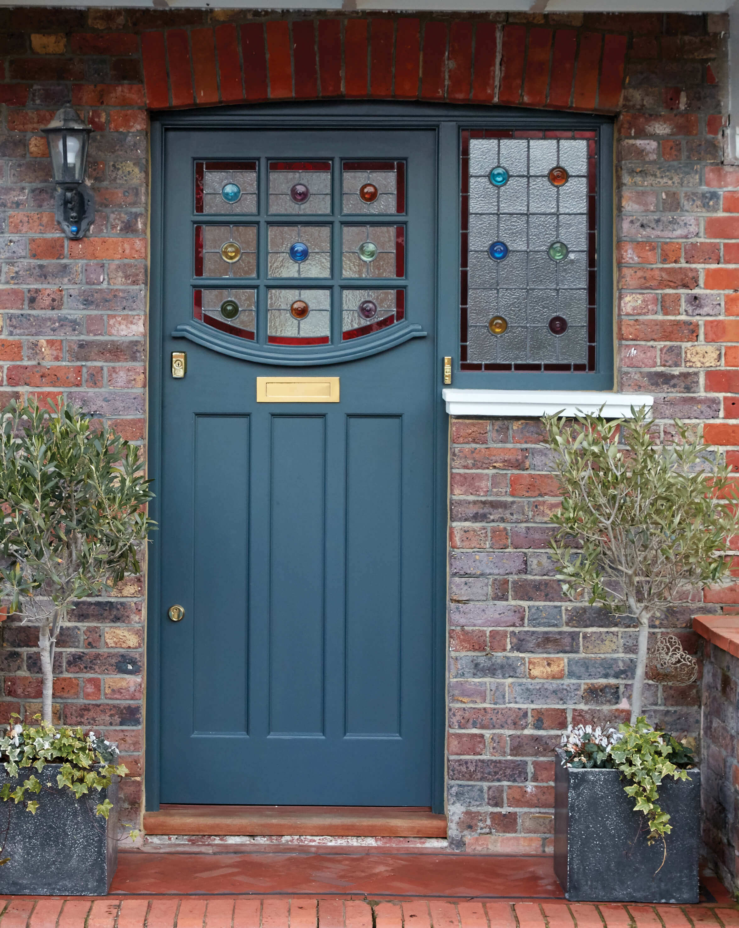 stained glass front door 1930s Stained Glass Front Door   London Door Company stained glass front door