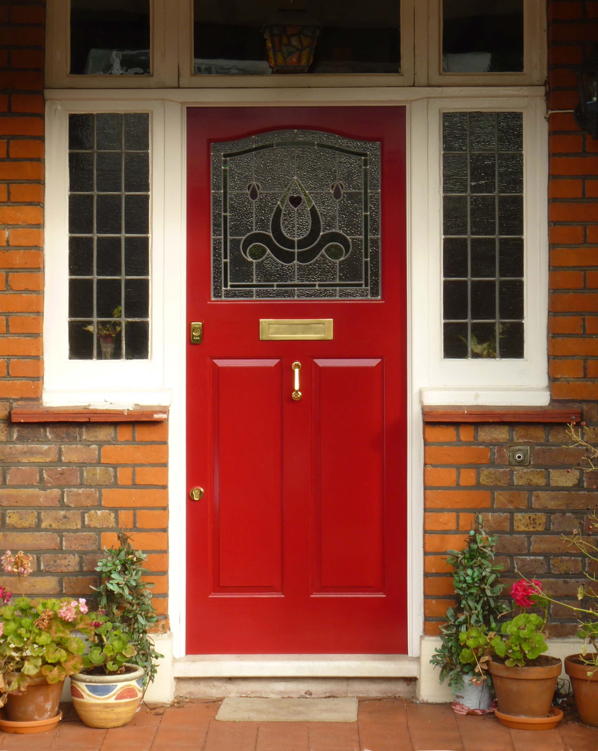 1930s Front Door With Side Panels London Door Company