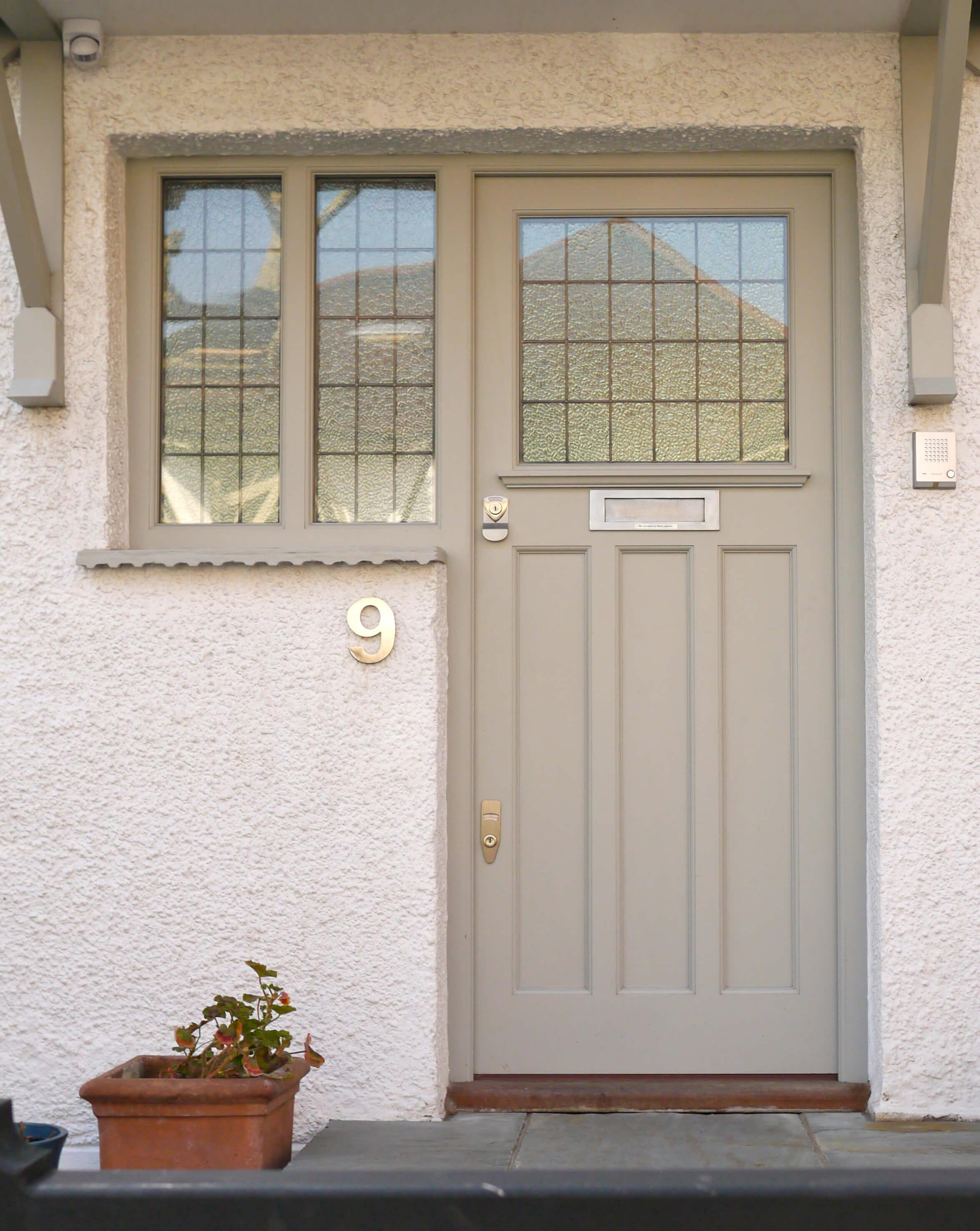 Grey 1930s Front Door London Door Company