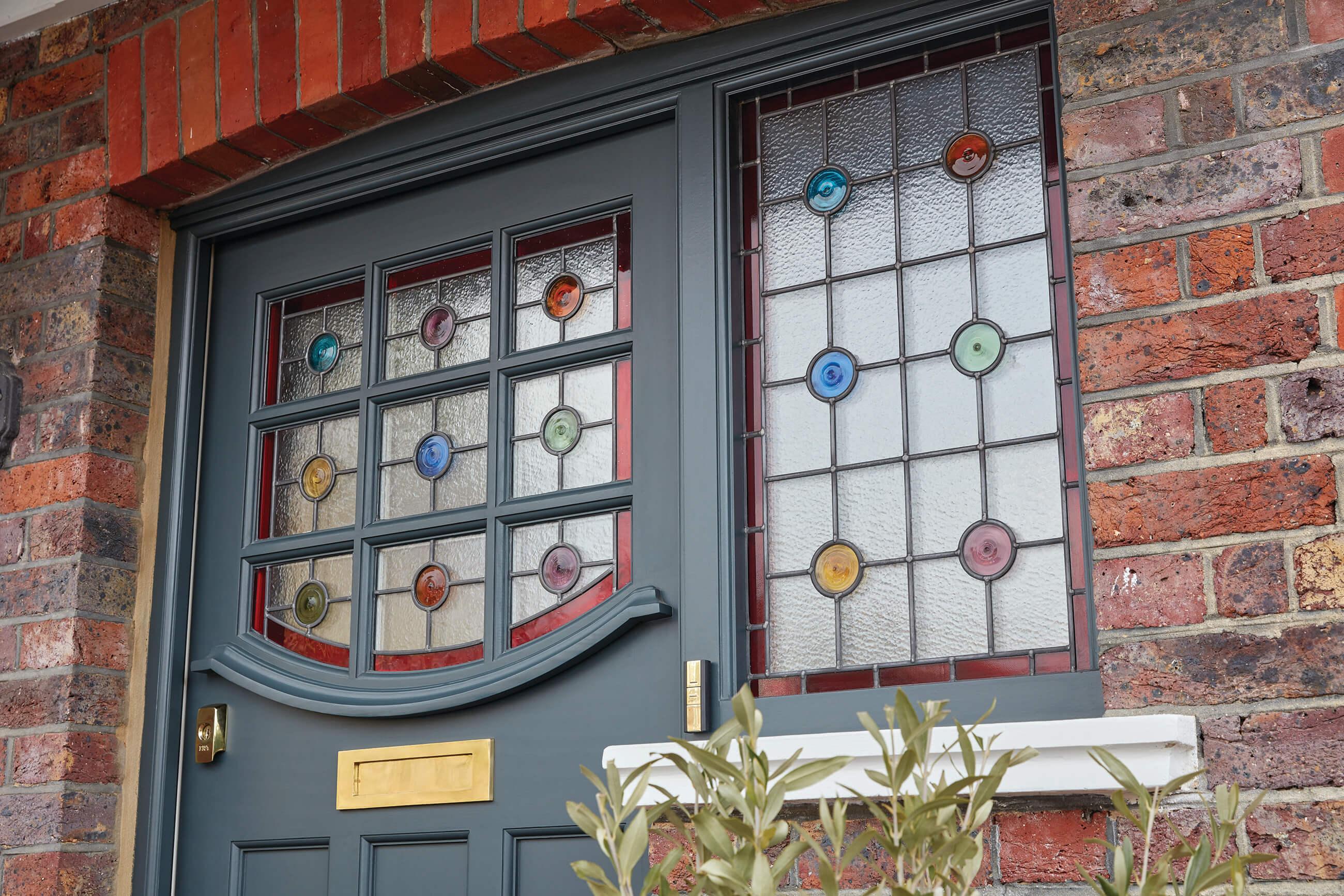 1930s Stained Glass Front Door London Door Company