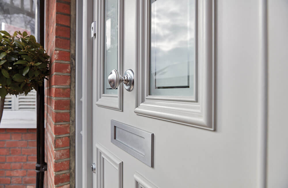 Wooden Front Doors - grey door