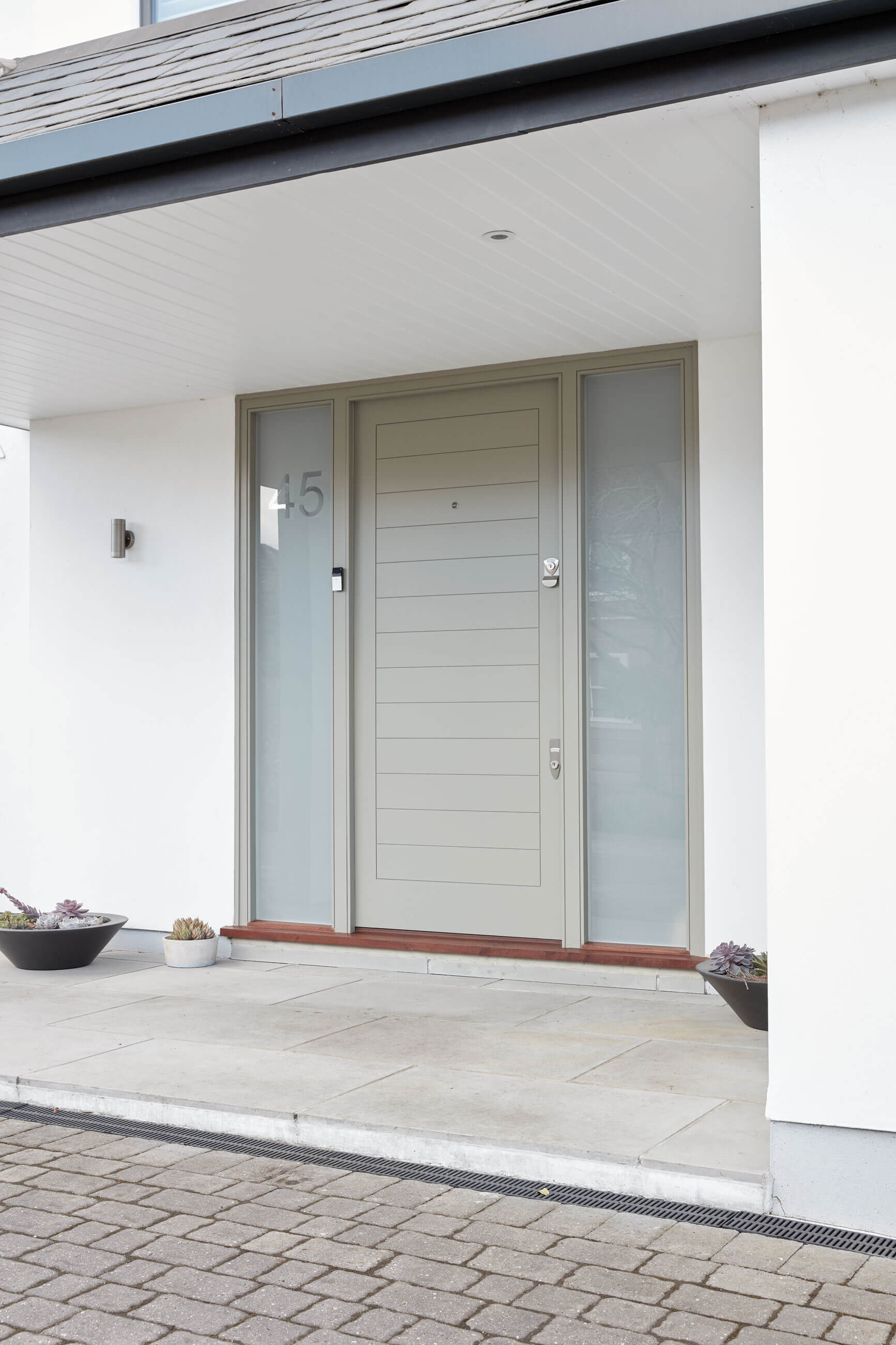 Contemporary Front Door With Sidelights London Door Company