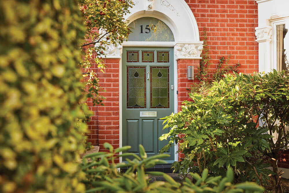 bespoke wooden doors Green Victorian Door