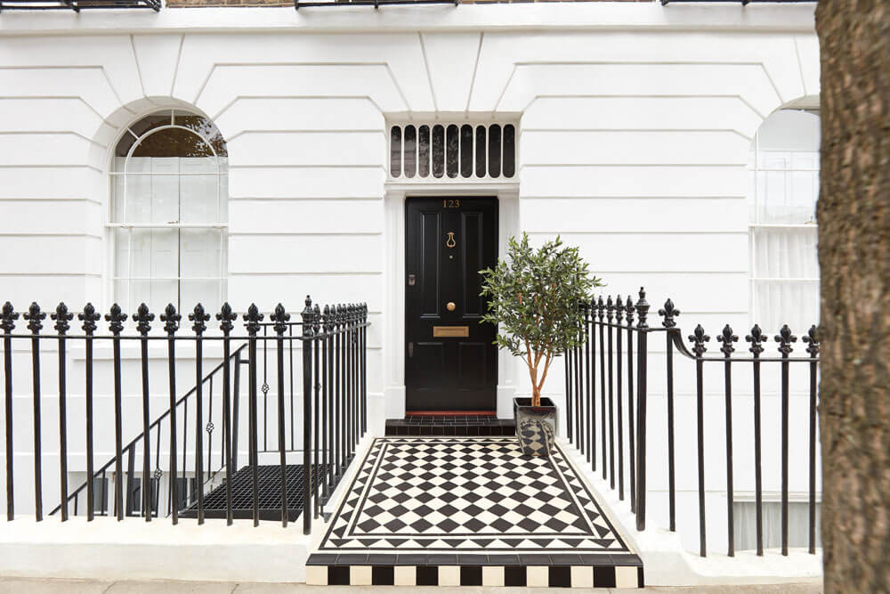 Black Georgian Front Door