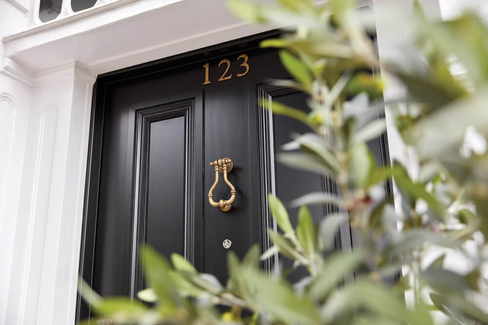 Black Georgian Front Door