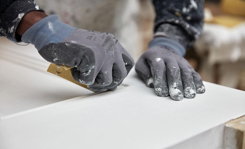 Hand Sanding of Door