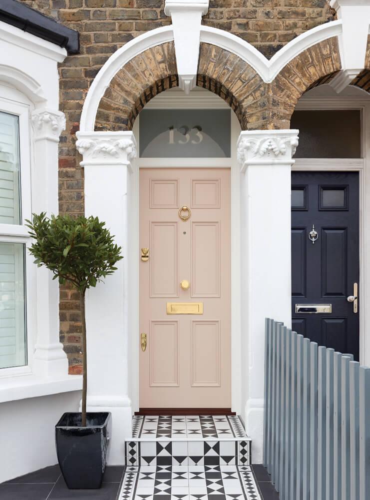 Pink Victorian Front Door