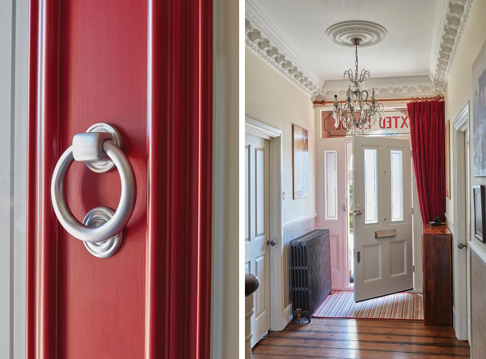 Red Victorian Door Details