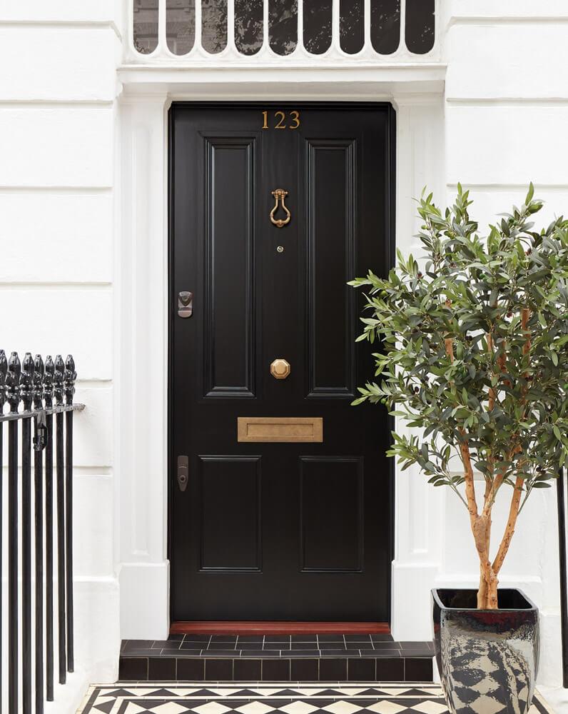 Black Georgian Front Door London Door Company