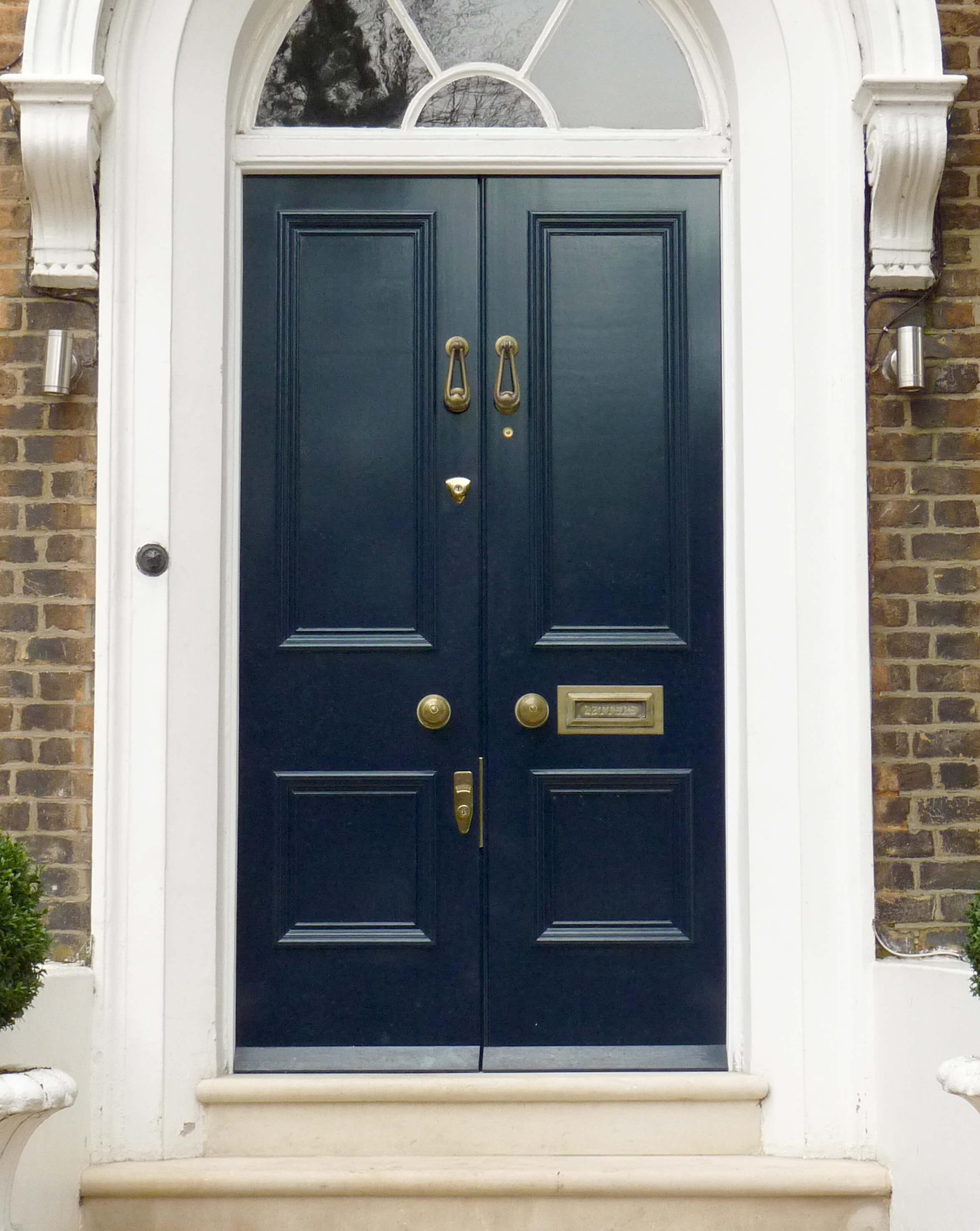 Double Georgian Front Door London Door Company