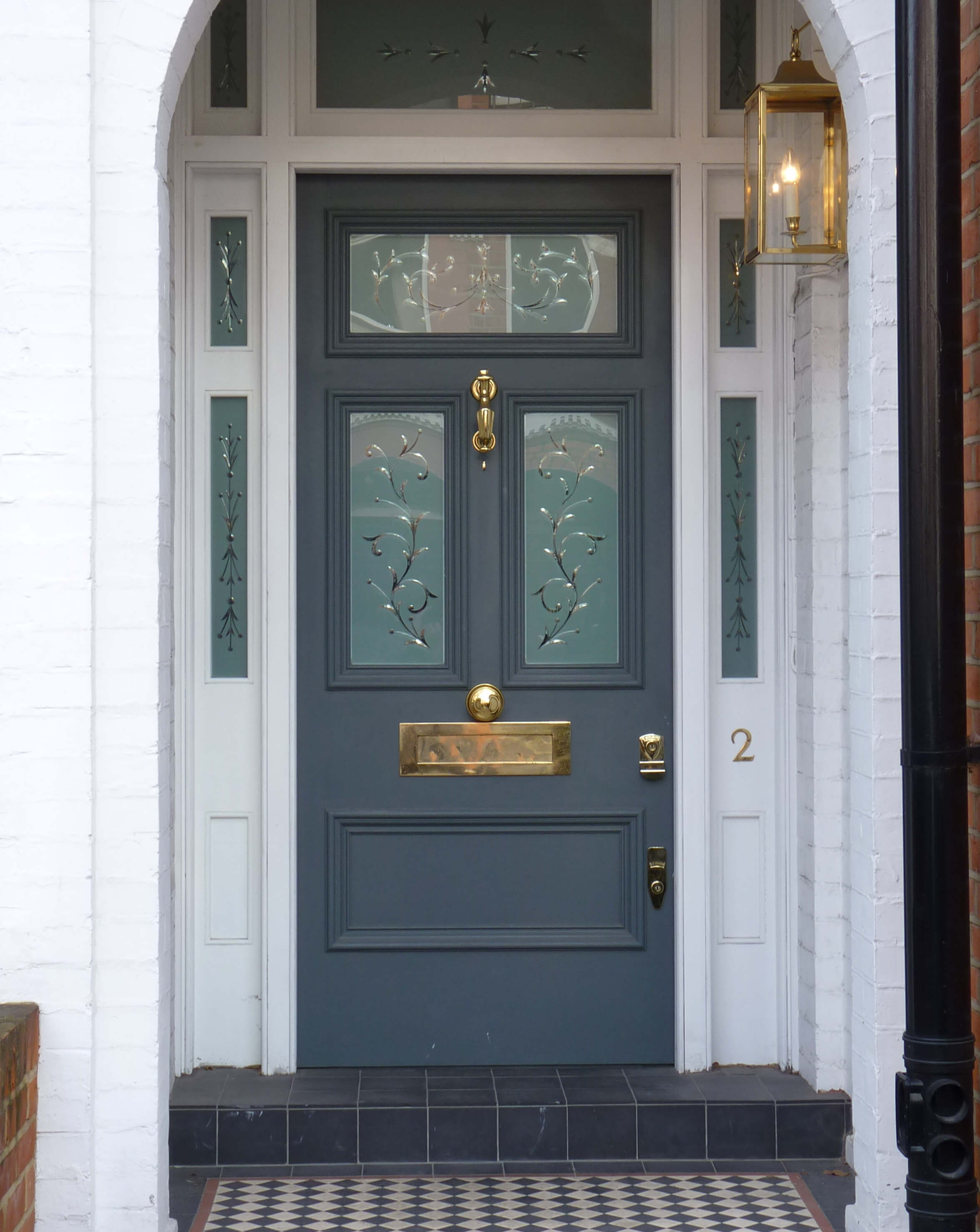 Victorian Etched Glass Door London Door Company