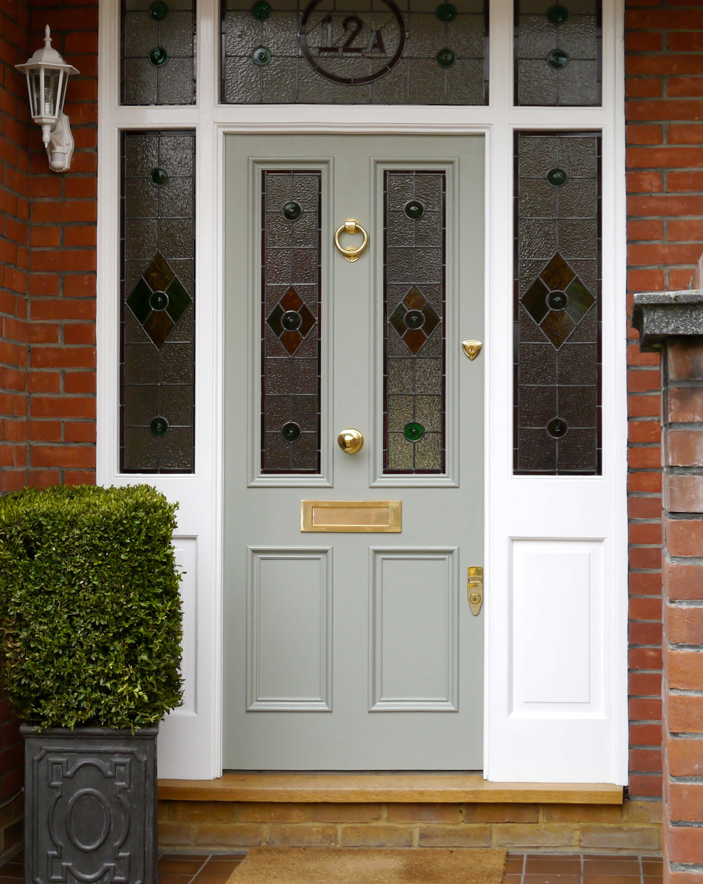 Victorian Front Door With Stained Glass London Door Company