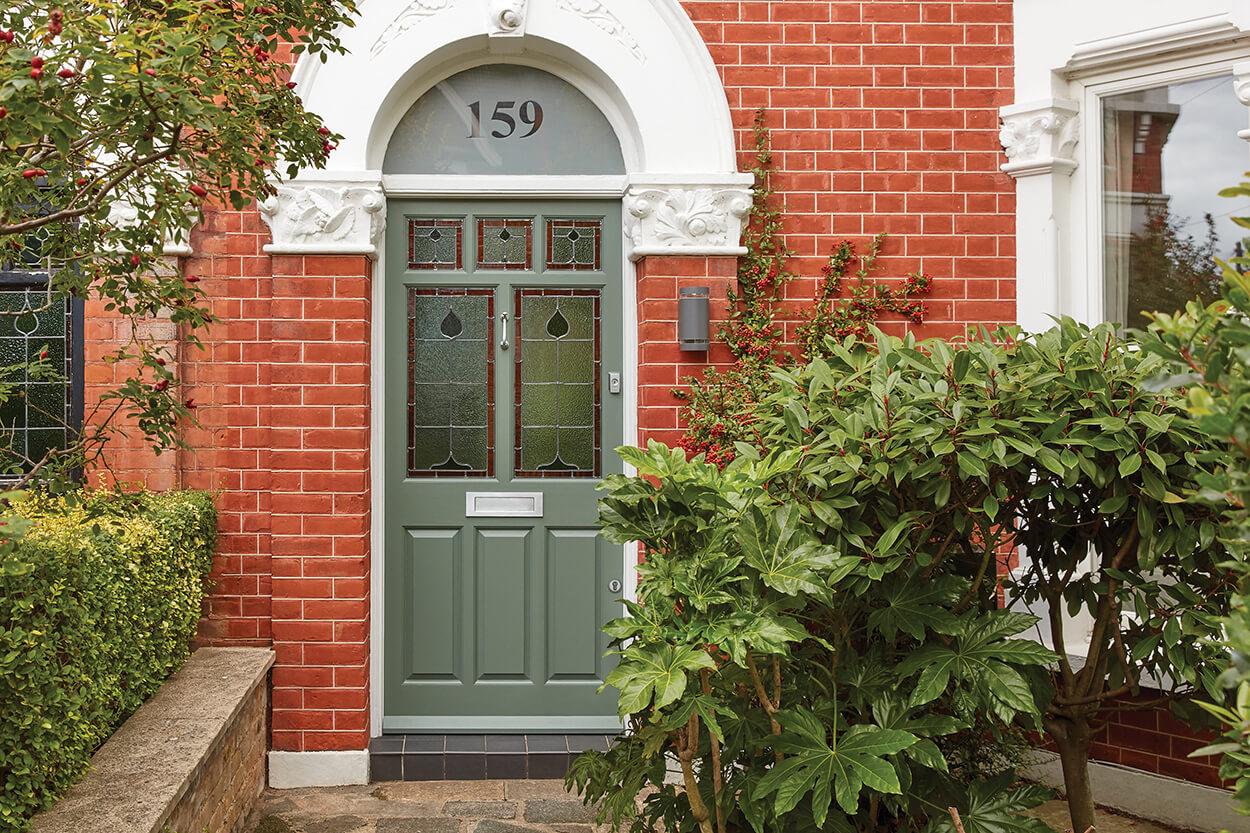 Green Victorian Front Door