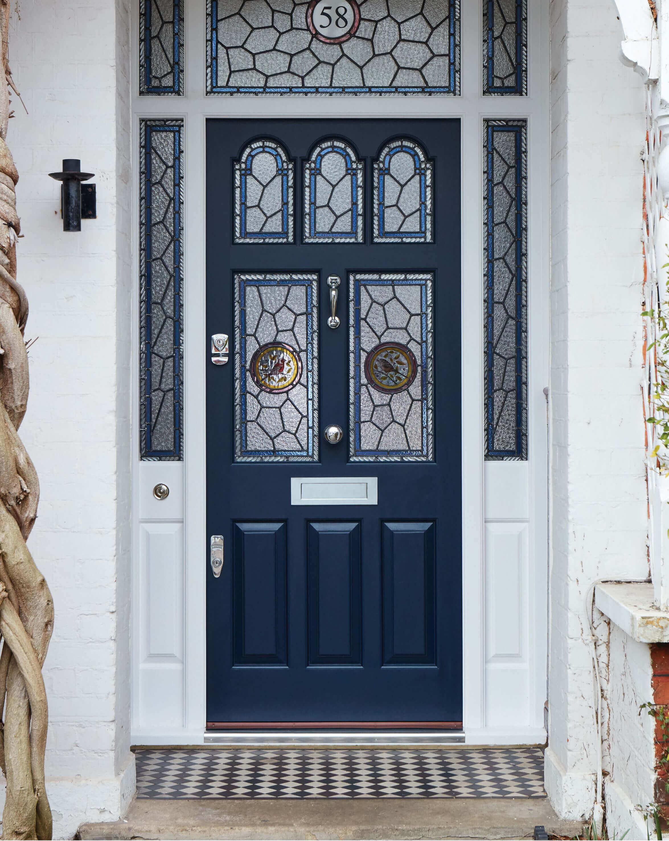 Blue victorian door london door company for Victorian door styles