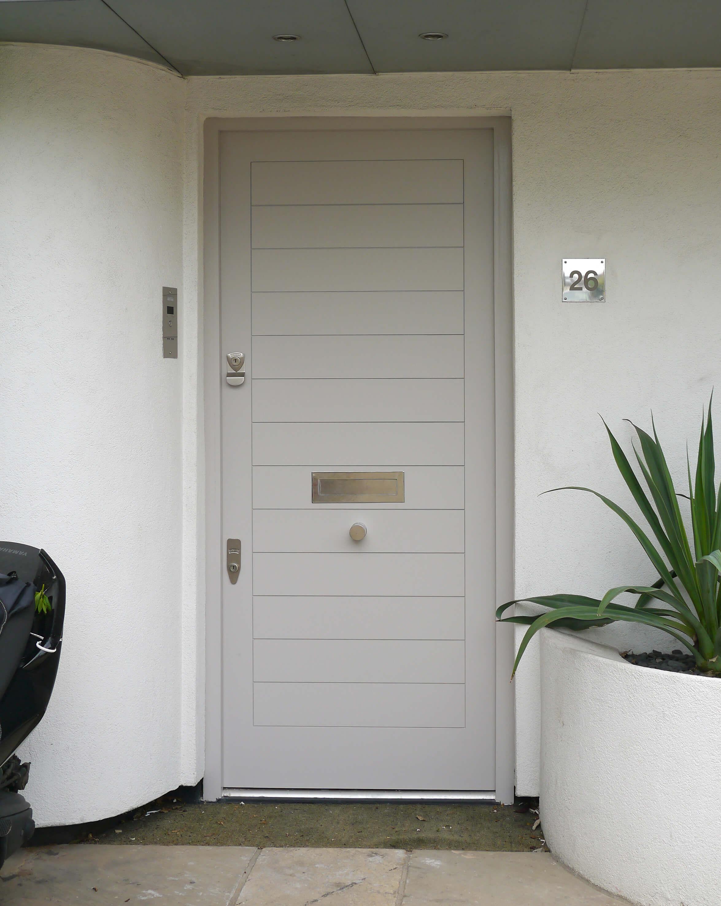 Grey Contemporary Front Door London Door Company
